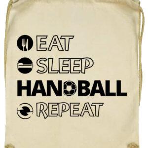 Eat sleep handball repeat- Basic tornazsák