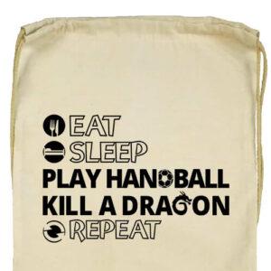 Eat sleep play handball repeat- Basic tornazsák