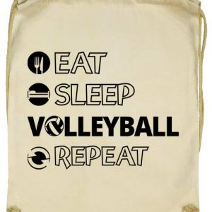 Eat sleep volleyball repeat- Basic tornazsák