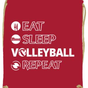 Eat sleep volleyball repeat- Prémium tornazsák