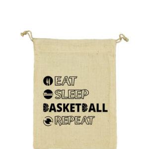 Eat sleep basketball repeat – Vászonzacskó közepes