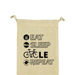 Eat sleep cycle repeat – Vászonzacskó kicsi