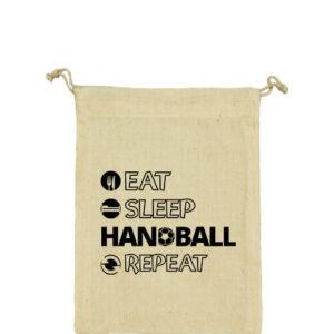 Eat sleep handball repeat – Vászonzacskó közepes