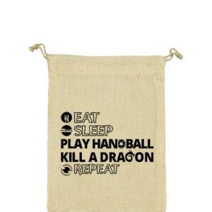 Eat sleep play handball repeat – Vászonzacskó közepes