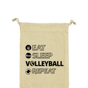 Eat sleep volleyball repeat – Vászonzacskó közepes