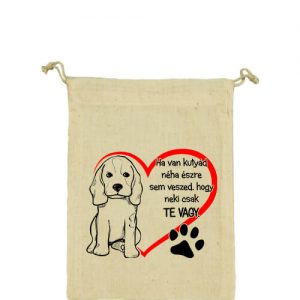 Ha van kutyád – Vászonzacskó közepes