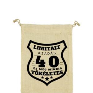 Limitált kiadás 40 – Vászonzacskó kicsi