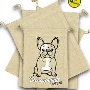 Denevérfülű sármőr francia bulldog – Vászonzacskó szett