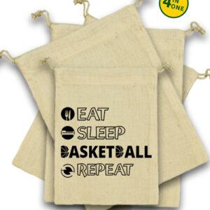 Eat sleep basketball repeat – Vászonzacskó szett