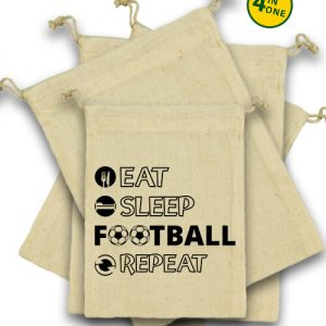 Eat sleep football repeat – Vászonzacskó szett
