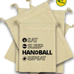 Eat sleep handball repeat – Vászonzacskó szett