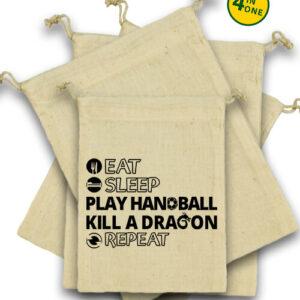 Eat sleep play handball repeat – Vászonzacskó szett