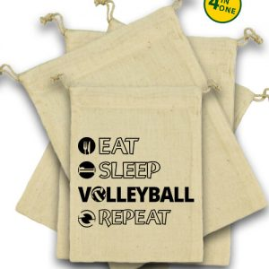 Eat sleep volleyball repeat – Vászonzacskó szett