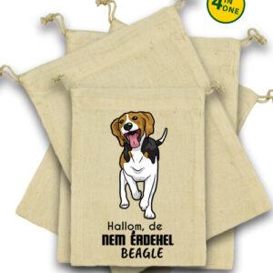 Hallom de nem érdekel beagle – Vászonzacskó szett