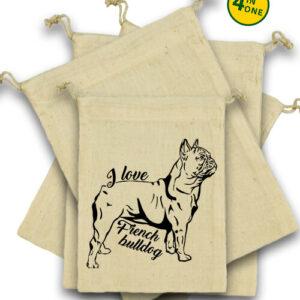 I love french bulldog francia bulldog – Vászonzacskó szett