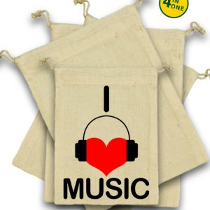 I love music – Vászonzacskó szett