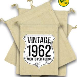 Vintage 1962 szülinapos – Vászonzacskó szett