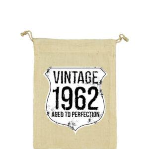 Vintage 1962 szülinapos – Vászonzacskó közepes