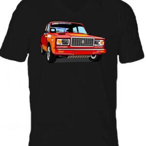 Lada 2107 rally – Férfi V nyakú póló