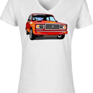 Lada 2107 rally – Női V nyakú póló