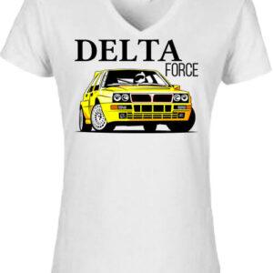 Lancia Delta Force – Női V nyakú póló
