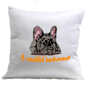 A család kedvence francia bulldog – Párna
