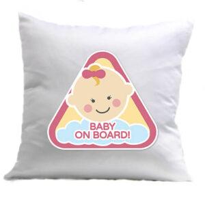 Baby on board lány – Párna