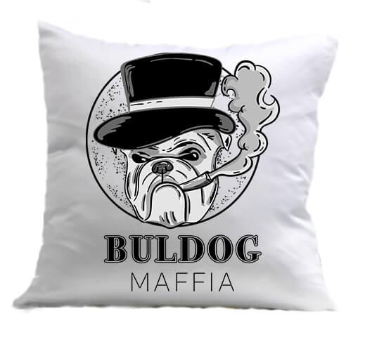 Párna Buldog maffia fehér