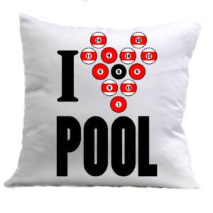 I love pool – Párna