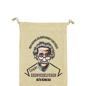 Szenvedélyes Einstein – Vászonzacskó kicsi
