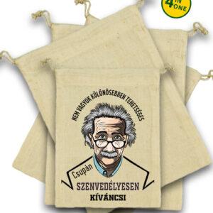 Szenvedélyes Einstein – Vászonzacskó szett