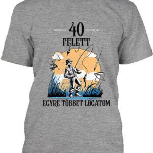 Horgász 40 felett – Férfi póló