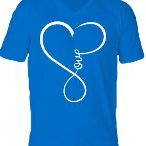 Love – Férfi V nyakú póló