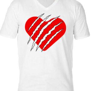 Macska szív – Férfi V nyakú póló