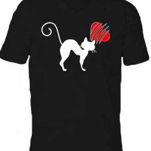 Macskamánia – Férfi V nyakú póló