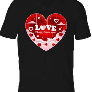 Valentin nap – Férfi V nyakú póló