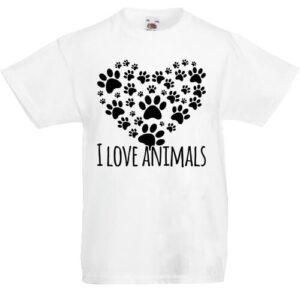 I love animals- Gyerek póló