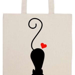 Cat love- Basic hosszú fülű táska