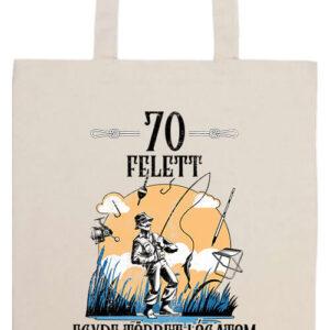 Horgász 70 felett- Prémium hosszú fülű táska