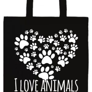 I love animals- Basic hosszú fülű táska