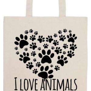 I love animals- Prémium hosszú fülű táska