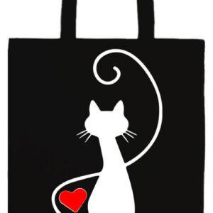 Macska szerelem- Prémium hosszú fülű táska