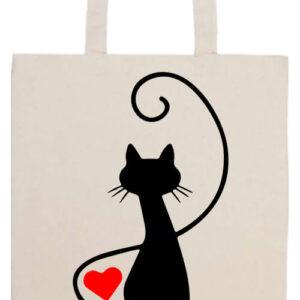 Macska szerelem- Basic hosszú fülű táska