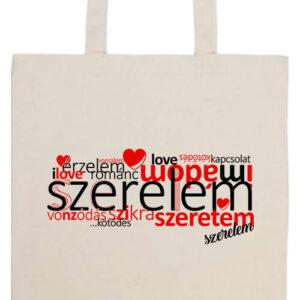 Szerelem szeretem- Prémium hosszú fülű táska