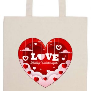 Valentin nap- Basic hosszú fülű táska