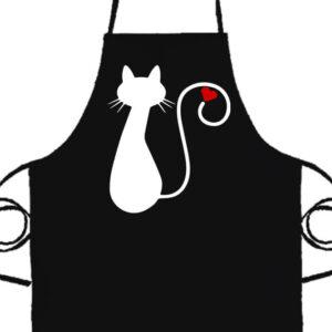 Cica imádat- Basic kötény