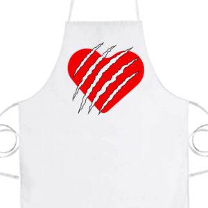 Macska szív- Basic kötény