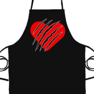 Macska szív- Prémium kötény