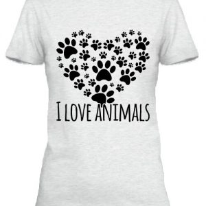 I love animals – Női póló
