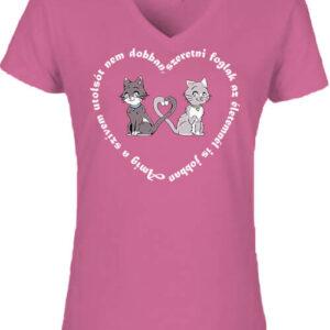Amíg a szívem szerelem – Női V nyakú póló